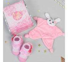 Игрушка для новорождённых «Мой первый подарок», пинетки, зайка
